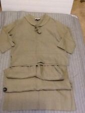 Cottage Clothing Top Skirt 100% Linen Skirtset Size Small Sandstone K08