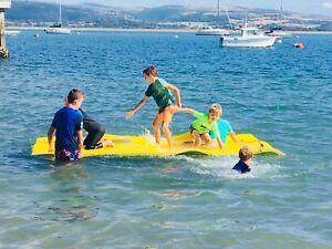 Floating Island Mat Lounging Pad Pool Ocean Lake Beach Water Raft Lounger Lilo