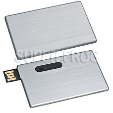 Credit Card Memory Stick Aluminium Metal USB Flash Drive Pendrive Silver