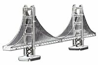 Tenyo Metallic Nano Puzzle Golden Gate Bridge Model Kit NEW from Japan