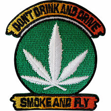 Cannabis Patch Embroidered Iron / Sew on Marijuana Biker Motorcycle Cloth Badge