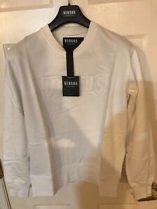 New Versus Versace Men's Versus Logo Sweatshirt White M