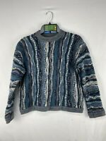 Vintage COOGI Australia Sweater Men's Size M 3D Textured Cotton Biggie Cosby Vtg