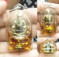 Prai Barang Skull Oil Kruba Phon Thai Amulet Love Charm Talisman Occult Pendant