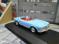 MERCEDES BENZ 230SL 230 SL Pagode blau blue Roadster 1963 W113 Solido SP 1:43