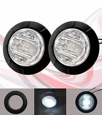 "2X White Clear len Side  6 LED SMD 1-1/4"" inch Marker Light Boat Tailer Car Bus"
