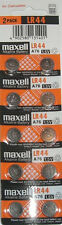 10 x Maxell LR44 A76 AG13 1.5V Alkaline Cell Button Batteries Long Expiry Date