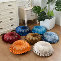 Velvet Sofa Bed Pillows Pleated Round Pumpkin Floor Couch Cushion Home Decor NEW