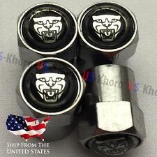 JAGUAR ROAR Rims Logo Valves Stems Caps Chromed Wheels Air Car Tires Set 4 USA