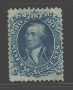 US #72 Washington 90 Cents Stamp, No Gum, Fine CV$1300.Must See ! FREE Shipping.