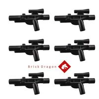 6 x Genuine LEGO Star Wars Minifigure Blaster Weapons *NEW*