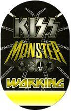 KISS Authentic 2012 Monster Tour Satin Cloth Backstage Pass crew