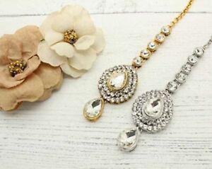 Gold Plated Designer Matha Patti Maang Tikka Forehead Head Piece Jewelry