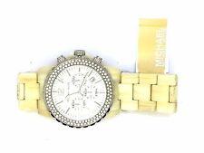 Michael Kors MK5598 Oversized Madison Chronograph Glitz Watch,White Horn