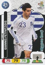 GIANNIS FETFATZIDIS # RISING STAR 1/30 GREECE CARD PANINI ADRENALYN EURO 2012
