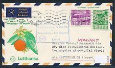 62414) LH  FF Amsterdam - Los Angeles USA 2.4.69, SoU ab Rumänien