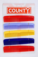 "HAIR COMB FOR LADIES, MEN, CHILDREN   BRIGHT COLOURS SWIMMING 7"" BRAND NEW"