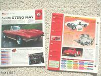 CHEVROLET CORVETTE BROCHURE's / ROAD TEST Collection: 1954,1965,1966,Race Car