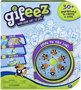 Gifeez Spin Your Art To Life Set 30+ Animations Custom Designs New Kids Toy 6+
