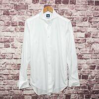 KAMAKURA Maker's Shirt Men's French Cuff Solid White Xinjiang 80 15 1/2 35.5
