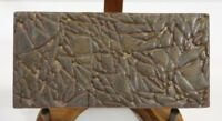 MOTAWI 5.75 x 2.75 inches Art Pottery Tile Retired, Discontinued Brown Abstract