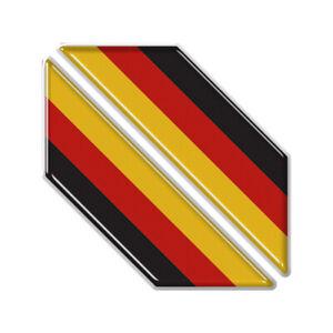2x German Number Plate Flag Shape Corners Gel Resin Domed