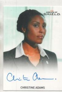 "Agents of SHIELD Auto Trading Card Christine Adams ""Agent Weaver"""