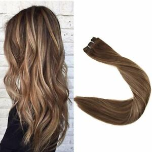 Full Shine Hair Weft Remy Human Hair Extensions Sew In Hair Double Weft 100g