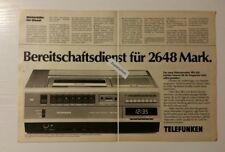 Werbeanzeige/advertisement A4: Telefunken Videorecorder VRV 620 1981 (12041683)
