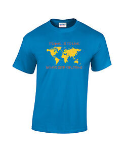 Travel is to live - Never stop exploring Sapphire T shirt World Map Tourism