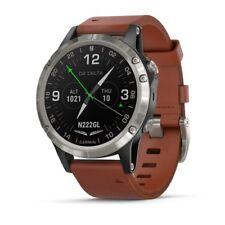 Garmin D2 Delta Aviation Pilot Watch w/ Brown Leather Band 010-01988-30