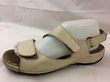 Wolky Womens 7.5 - 8 Med EU 39 Ankle Strap Sandals Walking Open Toe Shoes Beige