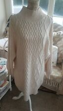 💜💜💜H&M Cable Knit Cream Jumper Dress XL Bnwt💜💜💜