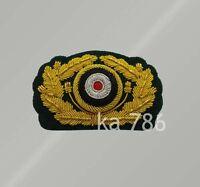 WW2 German Heer General Visor Cap Hat Emblem