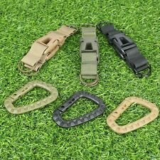 Hunting Accessories Military Army Webbing Belt MOLLE Keychain Buckle Key Ring