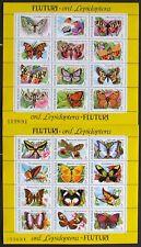 Romania 1991,Butterflies,2 M/Sh.RO 060