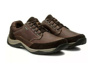 Clarks Men's WATERPROOF Baystone Go GTX MAHOGANY LEATHER Shoe UK 7 H EU 41 Wide