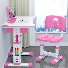 Children's Desk Chair Set Height Adjustable Study Table Set Kids Work Station US