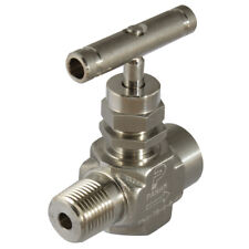"316 STAINLESS STEEL TWIN FERRULES - 1/2"" NPTF M/F 6000PSI 316SS NEEDLE VALVE 7-0"