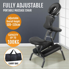 Portable PU Tattoo Spa Massage Chair Leather Pad w/Free Carry Bag Black