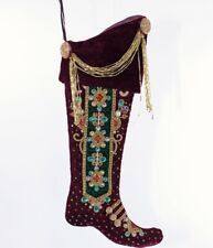 """Katherine's Collection Gifts Of Christmas 21"""" Nutcracker Boot Stocking 14-914273"""