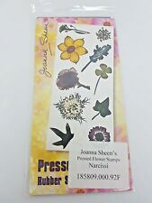 Joanna Sheen's - Pressed Flower Unmounted Rubber Stamps - NARCISSI