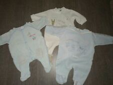 Lot x3 pyjamas velours Naissance (2 Sucre d'Orge/1 Coccoon)