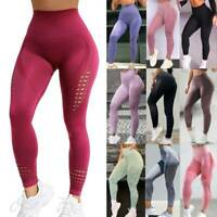 Women Seamless Leggings Yoga Pants High Waist Push Up Fitness Sports Gym Workout