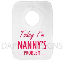 Aujourd'hui im nounou le problème personnalisé bébé bib baby shower