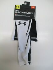 Under Armour shooter sleeve compression arm sleeve black/white L/XL