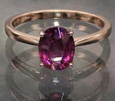9ct Rose Gold Garnet Single Stone  Ring 9 Carat Gold 2g  L 1/2