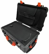 Black & Orange Pelican 1510 LOC Overnight Case With luggage insert & Lid pouch.