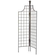 GAR121 H Potter Two Panel Screen Garden Trellis Metal Iron Patio Yard Wall Art