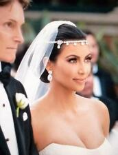 Olivier Laudus pearcut Simulated Diamond Drop Earrings Kardashian Wedding Zara